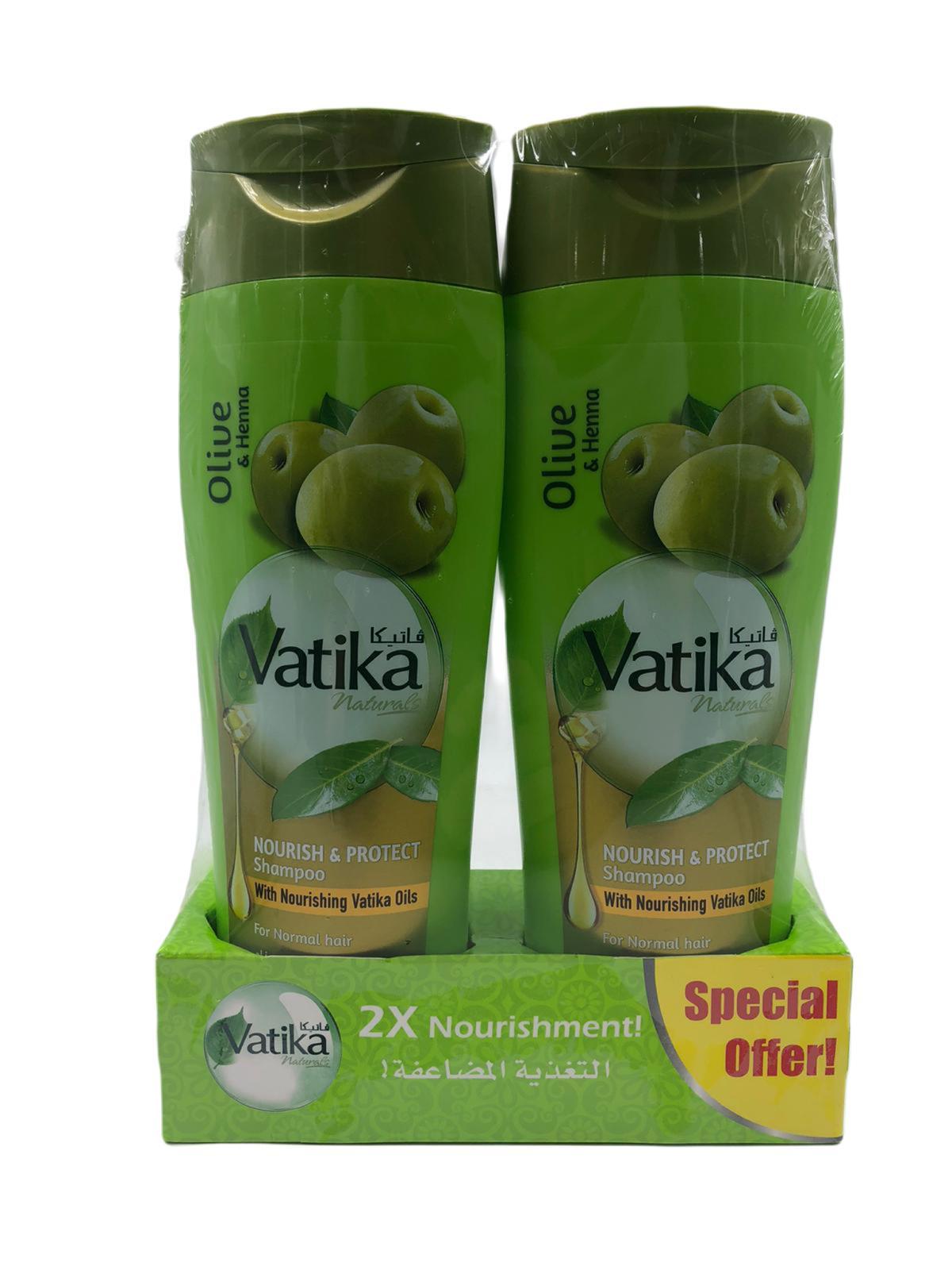 Vatika Shampoo Nourish & Protect 400ml*2pcs