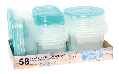 set of plastic containers 58 pcs
