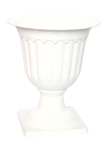Big plastic flower pot with base