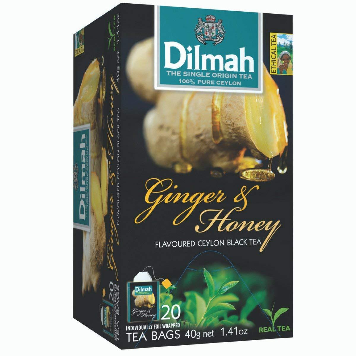 DILMAH TEA GINGER&HONEY FLVR 2X20 BAG